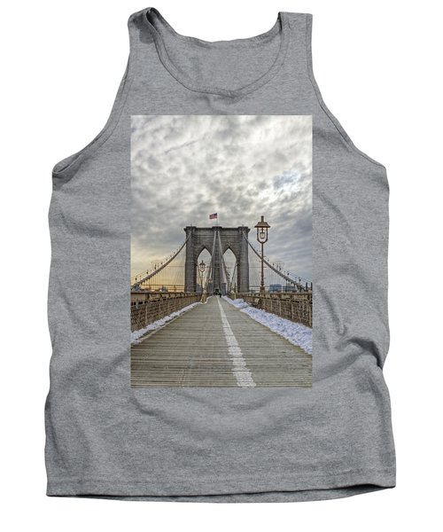Tank Top featuring the photograph Brooklyn Bridge by Jerry Gammon