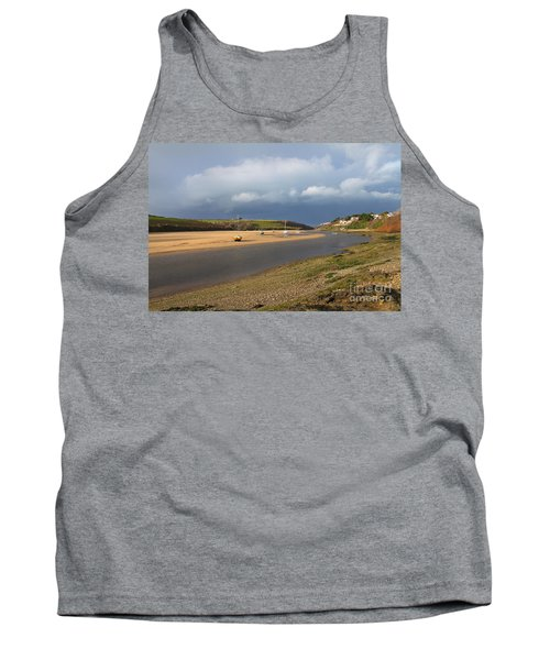Tank Top featuring the photograph Storm Approaches The Gannel Estuary Newquay Cornwall by Nicholas Burningham
