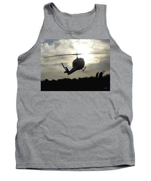 Tank Top featuring the digital art The Last Dust Off by Gary Baird