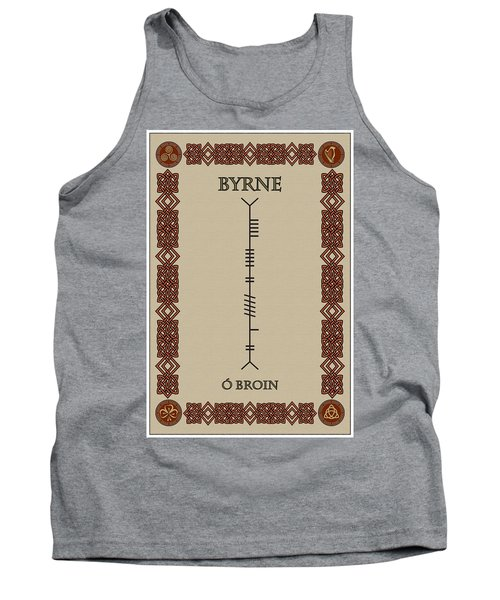 Tank Top featuring the digital art Byrne Written In Ogham by Ireland Calling