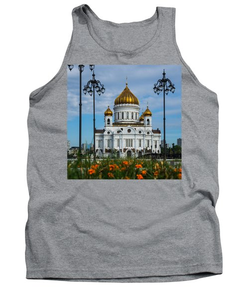 Cathedral Of Christ The Savior Of Moscow - Russia - Featured 3 Tank Top by Alexander Senin
