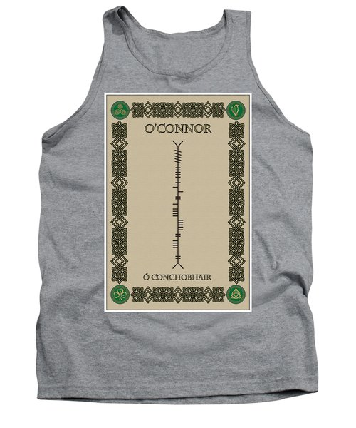 Tank Top featuring the digital art O'connor Written In Ogham by Ireland Calling