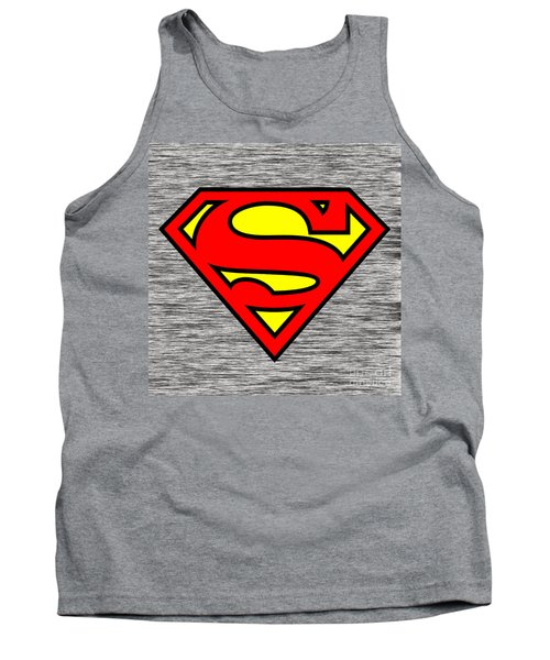 Tank Top featuring the mixed media Superman by Marvin Blaine