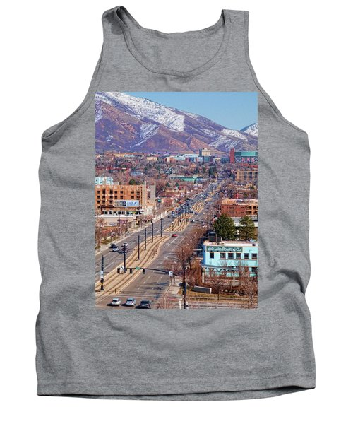 Tank Top featuring the photograph 400 S Salt Lake City by Ely Arsha