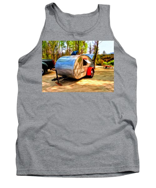 Tank Top featuring the painting 47 Teardrop by Michael Pickett