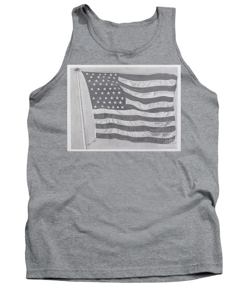 50 Stars 13 Stripes Tank Top by Wil Golden