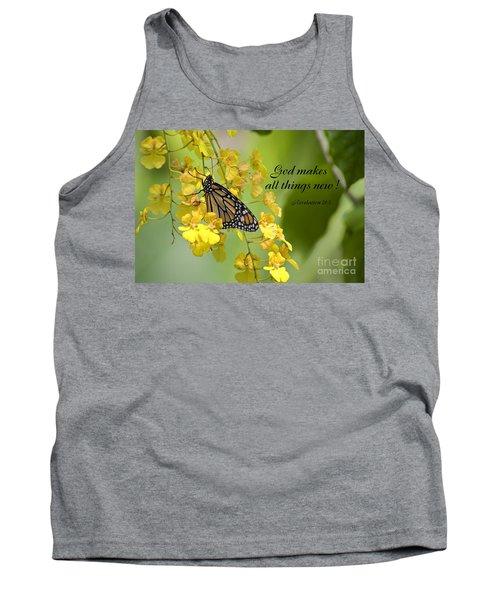 Butterfly Scripture Tank Top