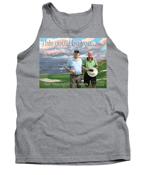 Tank Top featuring the painting 8th Hole Pebble Beach by Tim Gilliland