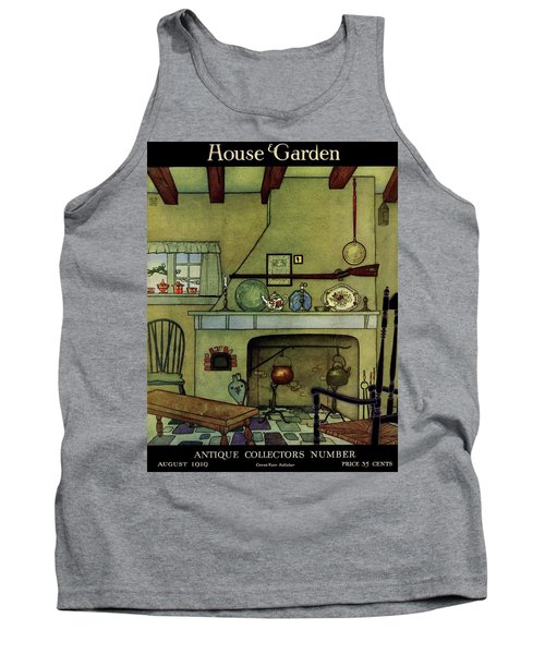 A 1920's Idea Of A Colonial Kitchen Tank Top
