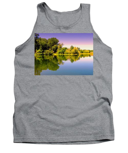 A Beautiful Day Reflected Tank Top by Joyce Dickens