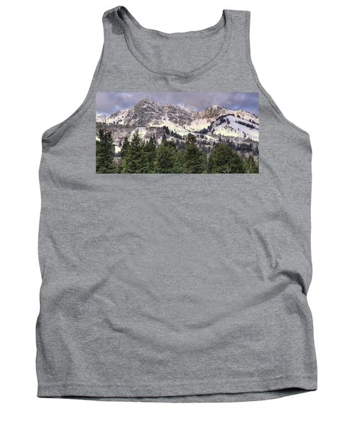 A Beautiful View Of Mount Ogden From Snowbasin 2/1 Pano Tank Top