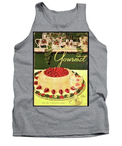 A Blancmange Ring With Strawberries Tank Top