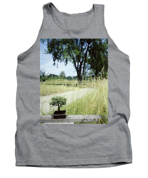 A Bonsai Tree In A Hayfield Tank Top