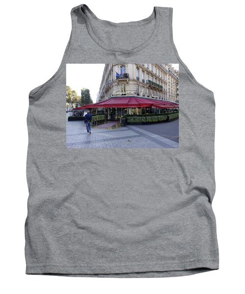 A Cafe On The Champs Elysees In Paris France Tank Top