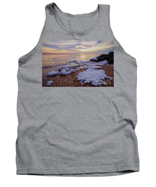 Tank Top featuring the photograph A Cold Sandy Hook Winter by Debra Fedchin