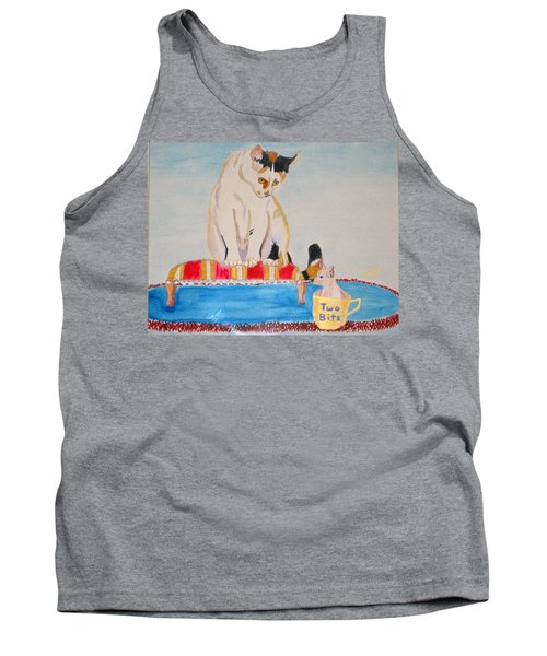 Tank Top featuring the painting A Cup Of Chihuahua by Phyllis Kaltenbach