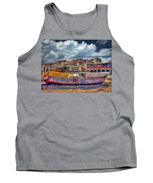 Tank Top featuring the photograph A Genesis Sunrise Over The Old City by Ronsho