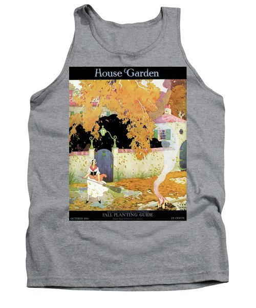 A Girl Sweeping Leaves Tank Top