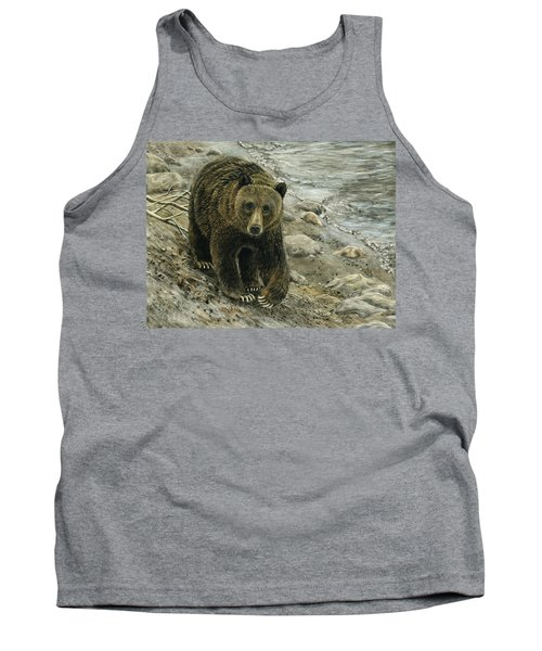 A Grey And Grizzly Day Tank Top