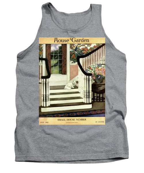 A House And Garden Cover Of A Cat On A Staircase Tank Top