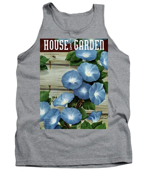 A House And Garden Cover Of Flowers Tank Top