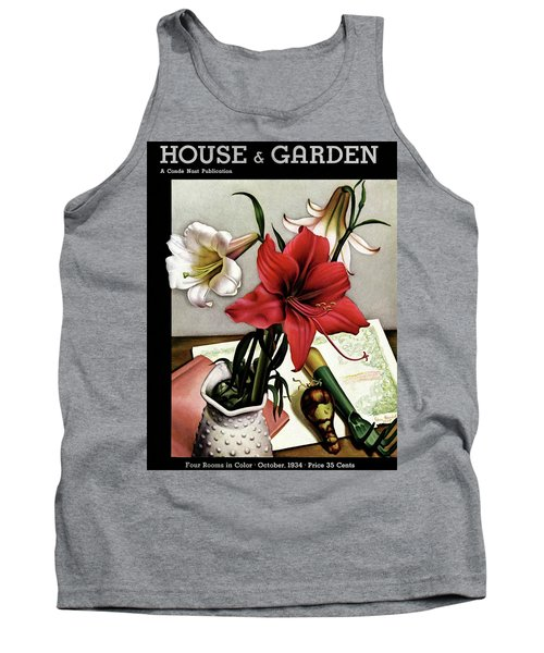 A House And Garden Cover Of Lilies Tank Top
