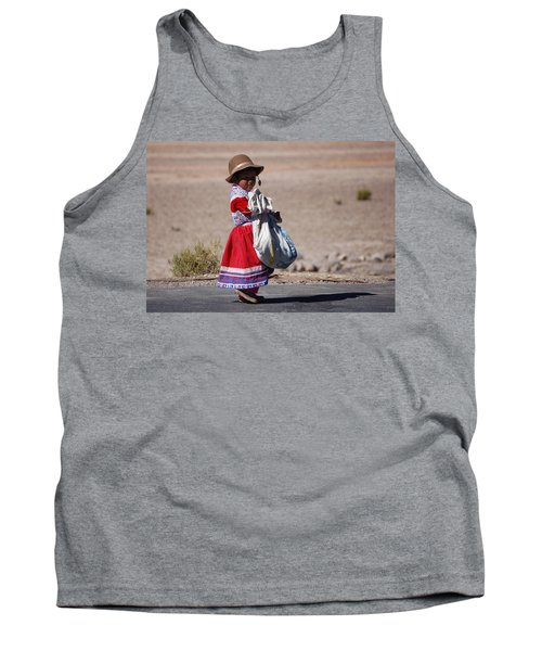 A Little Girl In The  High Plain Tank Top