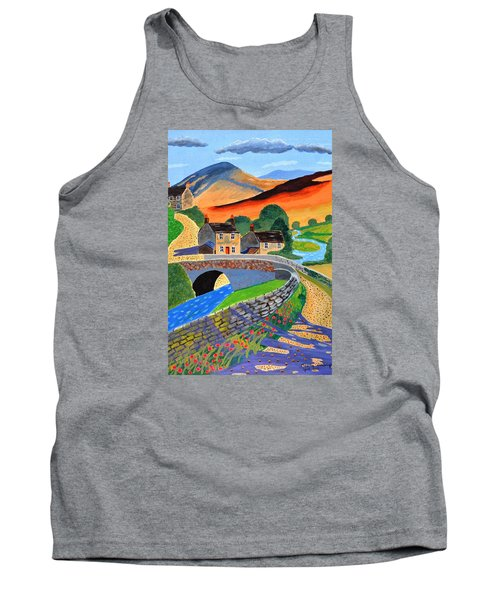 Tank Top featuring the painting a Scottish highland lane by Magdalena Frohnsdorff