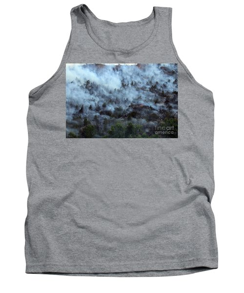 Tank Top featuring the photograph A Smoky Slope On White Draw Fire by Bill Gabbert
