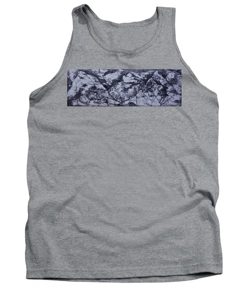 Tank Top featuring the painting A View by Erika Chamberlin