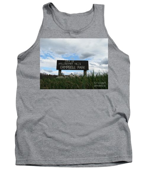Tank Top featuring the photograph A Walk In The Park  by Michael Krek