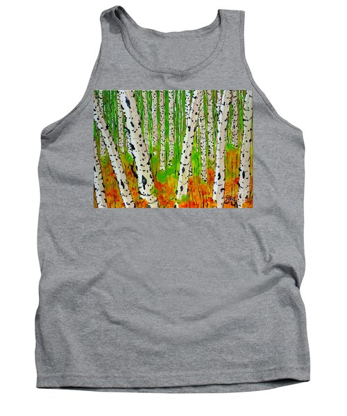 A Walk Though The Trees Tank Top by Jackie Carpenter