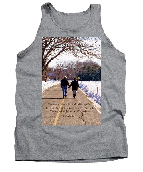 A Winter Walk/inspirational Tank Top