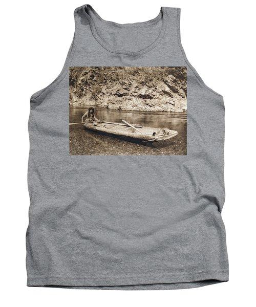 A Yurok In His Dugout Canoe Tank Top