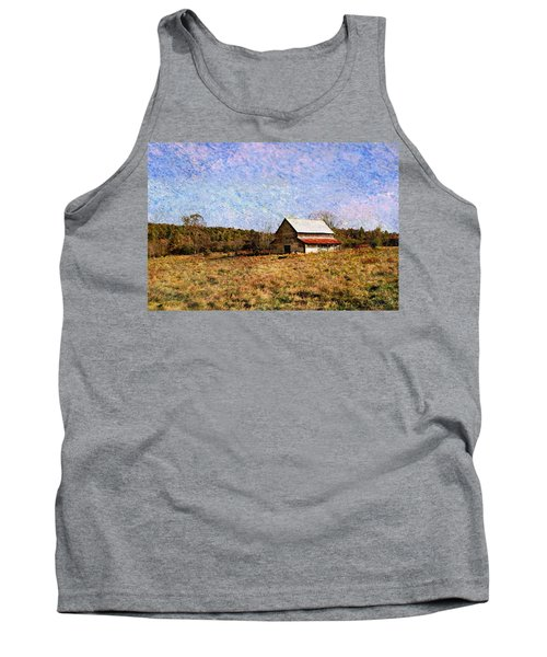Tank Top featuring the photograph Abandoned Barn In North Georgia by Vizual Studio