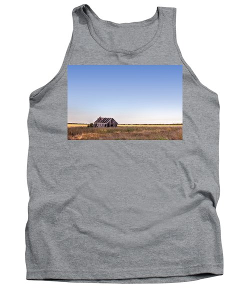 Abandoned Farmhouse In A Field Tank Top