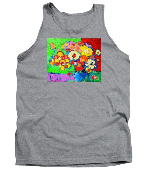 Abstract Colorful Flowers Tank Top