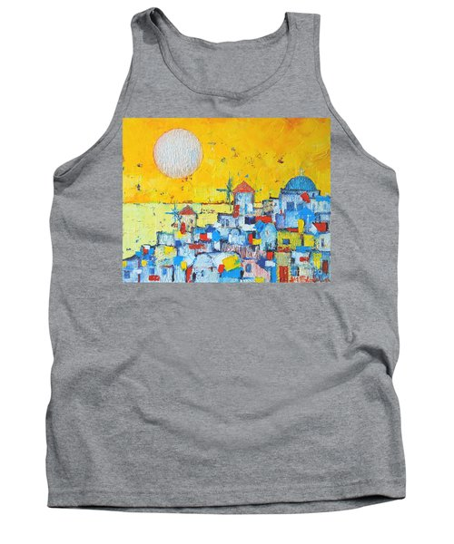 Abstract Santorini - Oia Before Sunset Tank Top