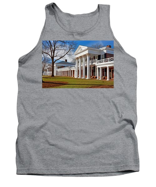 Academical Village At The University Of Virginia Tank Top by Melinda Fawver