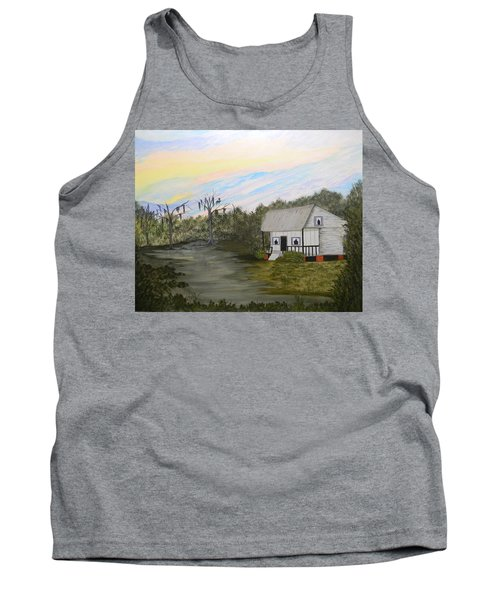 Acadian Home On The Bayou Tank Top