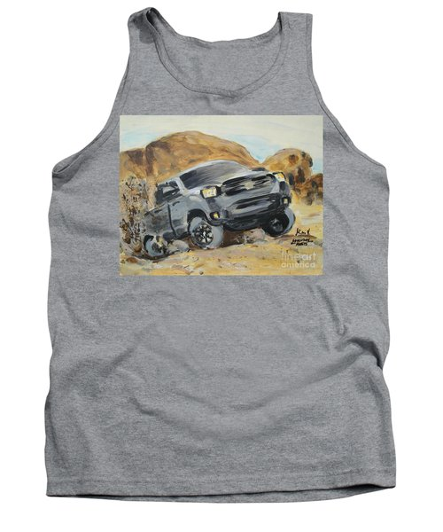 Tank Top featuring the painting Adventure Awaits by Maria Langgle