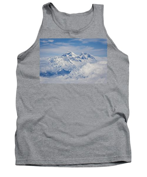 Aerial View Of Mount Everest Tank Top by Hitendra SINKAR