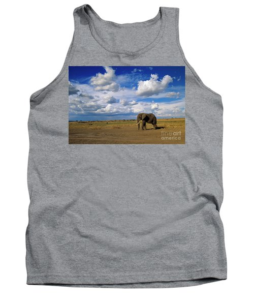 African Elephant Walking Masai Mara Tank Top