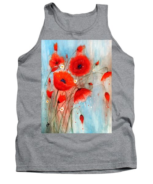 Tank Top featuring the painting After The Rain.. by Cristina Mihailescu