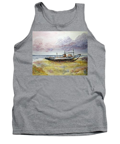 Tank Top featuring the painting After The Storm by Joey Agbayani