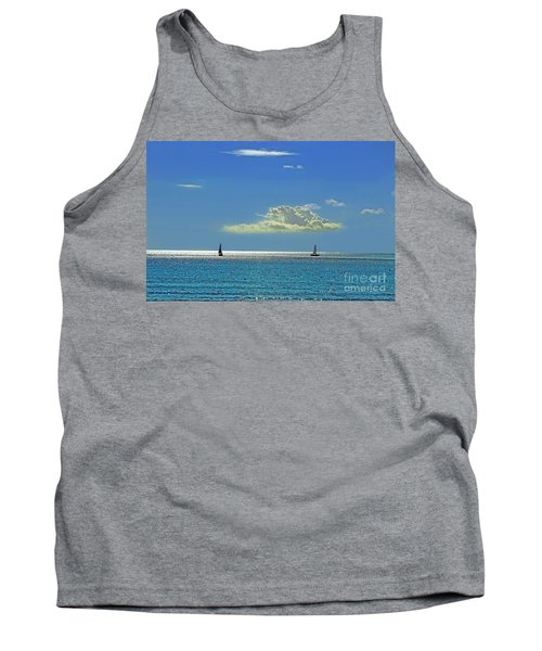 Tank Top featuring the photograph Air Beautiful Beauty Blue Calm Cloud Cloudy Day by Paul Fearn