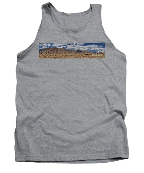 Tank Top featuring the photograph Alabama Hills And Eastern Sierra Nevada Mountains by Peggy Hughes