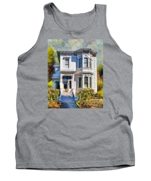 Tank Top featuring the painting Alameda 1880 - Queen Anne  by Linda Weinstock