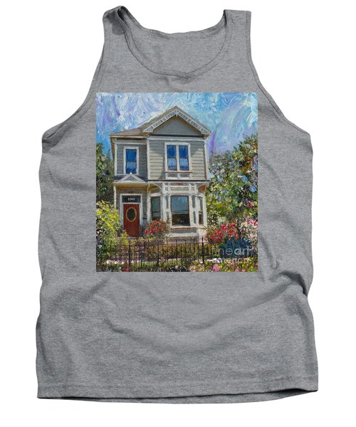 Tank Top featuring the painting Alameda 1892 Queen Anne by Linda Weinstock