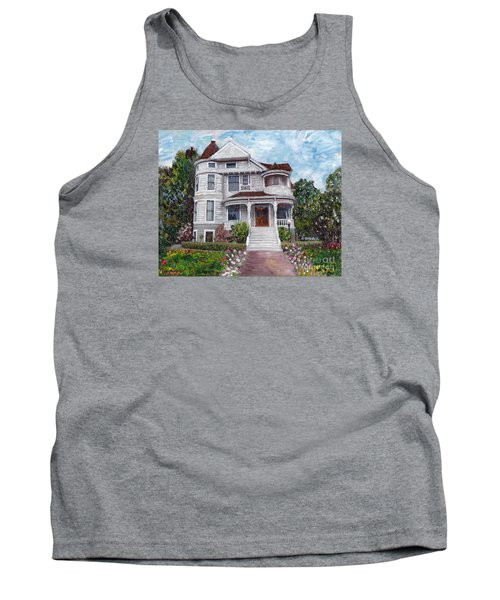 Tank Top featuring the painting Alameda 1897 - Queen Anne by Linda Weinstock